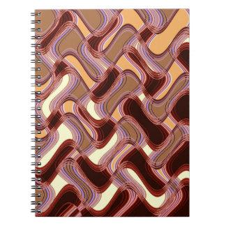 Port & Peach Notebook by Artist C.L. Brown