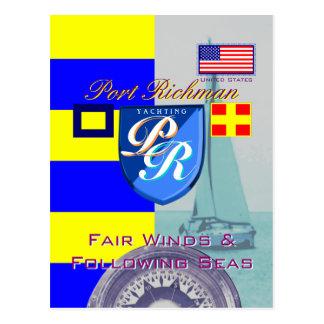 Port Richman Fair Winds Following Seas USA Postcard