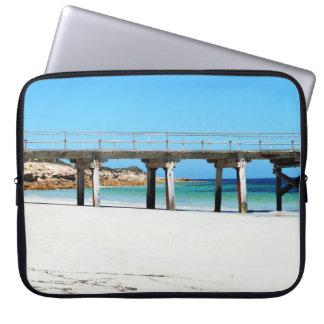 Port Rickaby, South Australia, Pier Laptop Sleeve