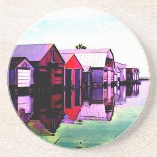 Port Rowan Boathouses Coaster
