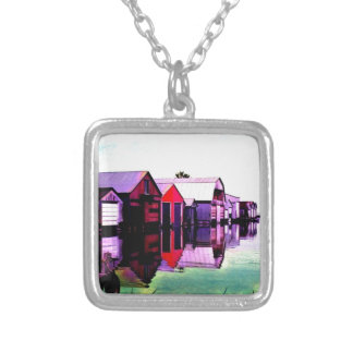 Port Rowan Boathouses Silver Plated Necklace