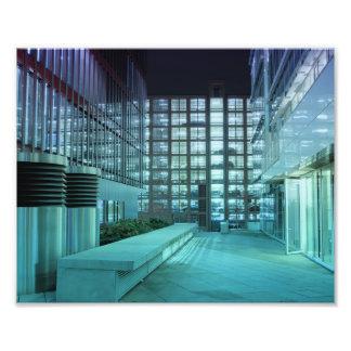 Port town center at night photo print