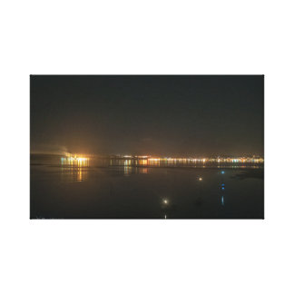 Port Townsend at Night Wrapped Canvas