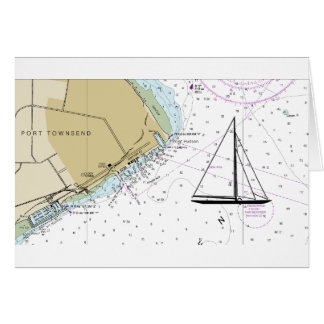 Port Townsend Sailing Nautical Chart Card
