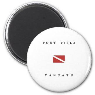 Port Villa Vanuatu Scuba Dive Flag 6 Cm Round Magnet