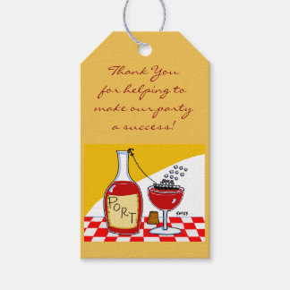 Port Wine Tasting Party Favors Tags