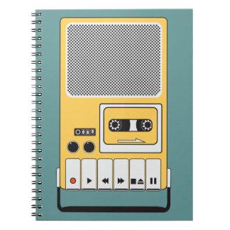 Portable Cassette Tape Recorder Note Book