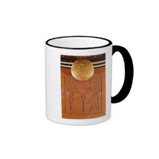 Portable chest, detail of Tutankhamun Mugs