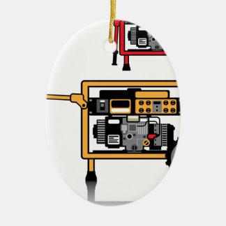 Portable Generator vector Ceramic Ornament