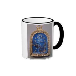 Portable Icon, probably medieval (lapis lazuli) Ringer Coffee Mug