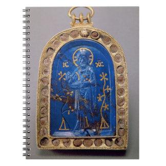 Portable Icon, probably medieval (lapis lazuli) Spiral Note Books