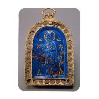 Portable Icon, probably medieval (lapis lazuli) Rectangular Photo Magnet