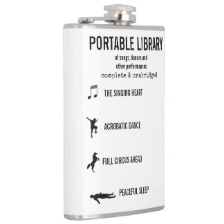 Portable Library Of Performances funny Hip Flask