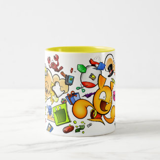Portable Liquid Container Two-Tone Coffee Mug
