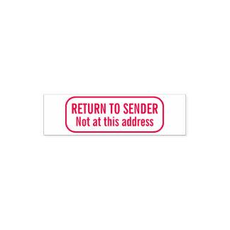 Portable Pocket Rubber Stamp Return to Sender RTS