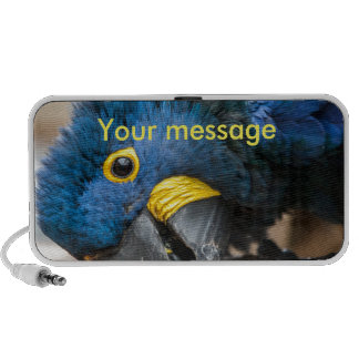 Portable speaker cute blue Hyacinth Macaw parrot