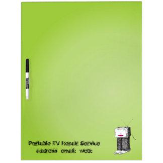 Portable TV large Dry Erase Board