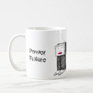 Portable TV Power Failure Classic White Coffee Mug