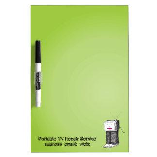 Portable TV Repair Service medium Dry Erase Whiteboard