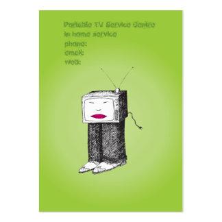 Portable TV Service Centre Business Card Template