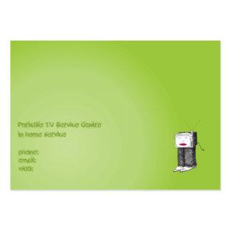 Portable TV Service Centre Business Card Templates
