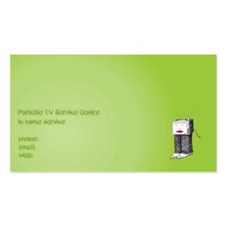 Portable TV Service Centre Business Cards