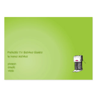 Portable TV Service Centre Pack Of Chubby Business Cards