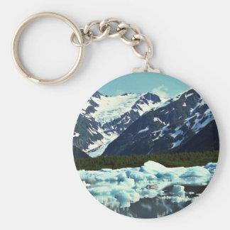 Portage Glacier, north of Port Seward, Alaska Key Ring