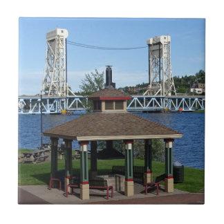 Portage Lake Lift Bridge Ceramic Tile
