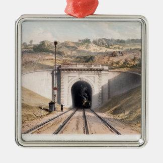 Portal of Brunel's box tunnel near Bath Metal Ornament