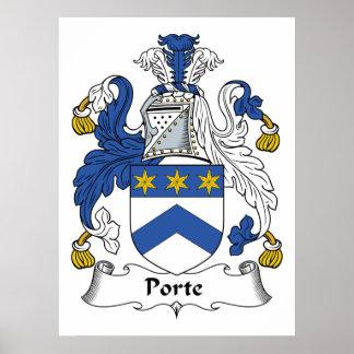 Porte Family Crest Poster