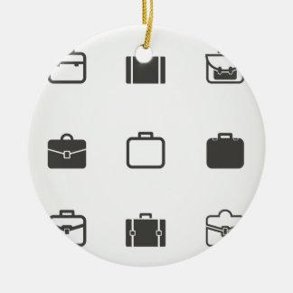 Portfolio an icon round ceramic decoration