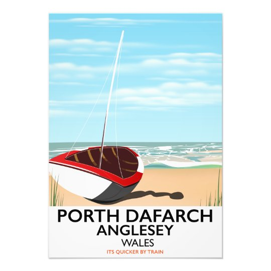 Porth Dafarch, Anglesey vintage travel poster