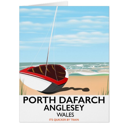 Porth Dafarch, Anglesey vintage travel poster Card