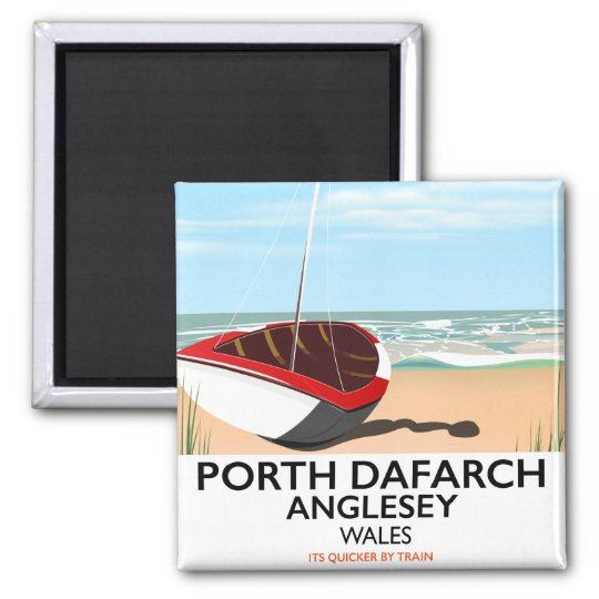 Porth Dafarch, Anglesey vintage travel poster Magnet