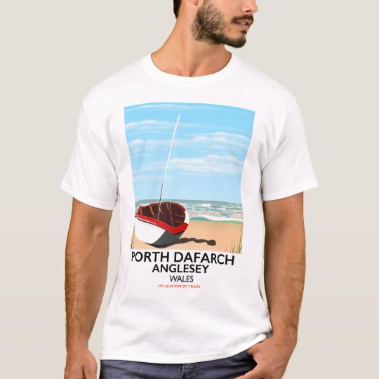 Porth Dafarch, Anglesey vintage travel poster T-Shirt