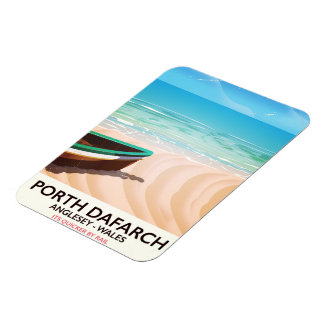 Porth Dafarch, Anglesey Welsh beach poster Rectangular Photo Magnet