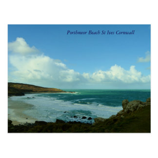 Porthmeor Beach St Ives Cornwall England Postcard