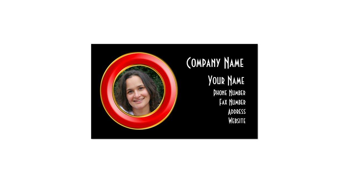 Porthole picture frame business card zazzle for Business card picture frame