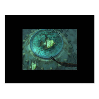 Porthole, Sci-fi - Postcard