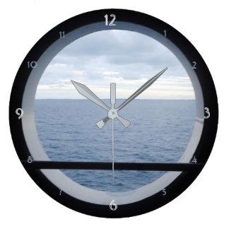 Porthole View Large Clock