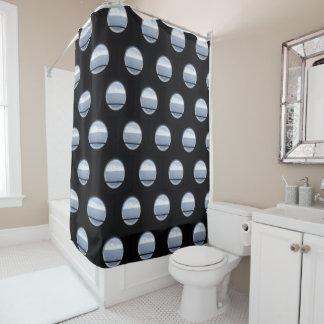 Porthole View Pattern II Shower Curtain