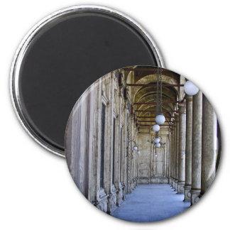 Portico of the Sultan Ali mosque in Cairo 6 Cm Round Magnet