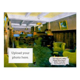 Portion of Lobby Hotel Von Dorn 242 Turk St. San F Postcard