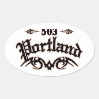 Portland 503 oval sticker