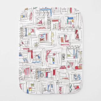 Portland-Abstract Art Print Baby Burp Cloth