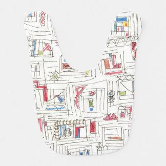 Portland-Abstract Art Print Bibs