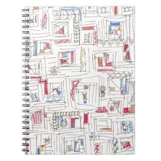 Portland-Abstract Art Print Note Book