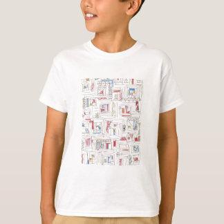 Portland-Abstract Art Print T-Shirt
