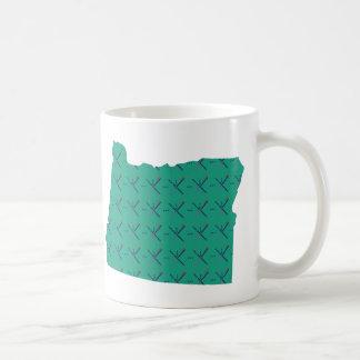 Portland Airport carpet Oregon map Coffee Mug